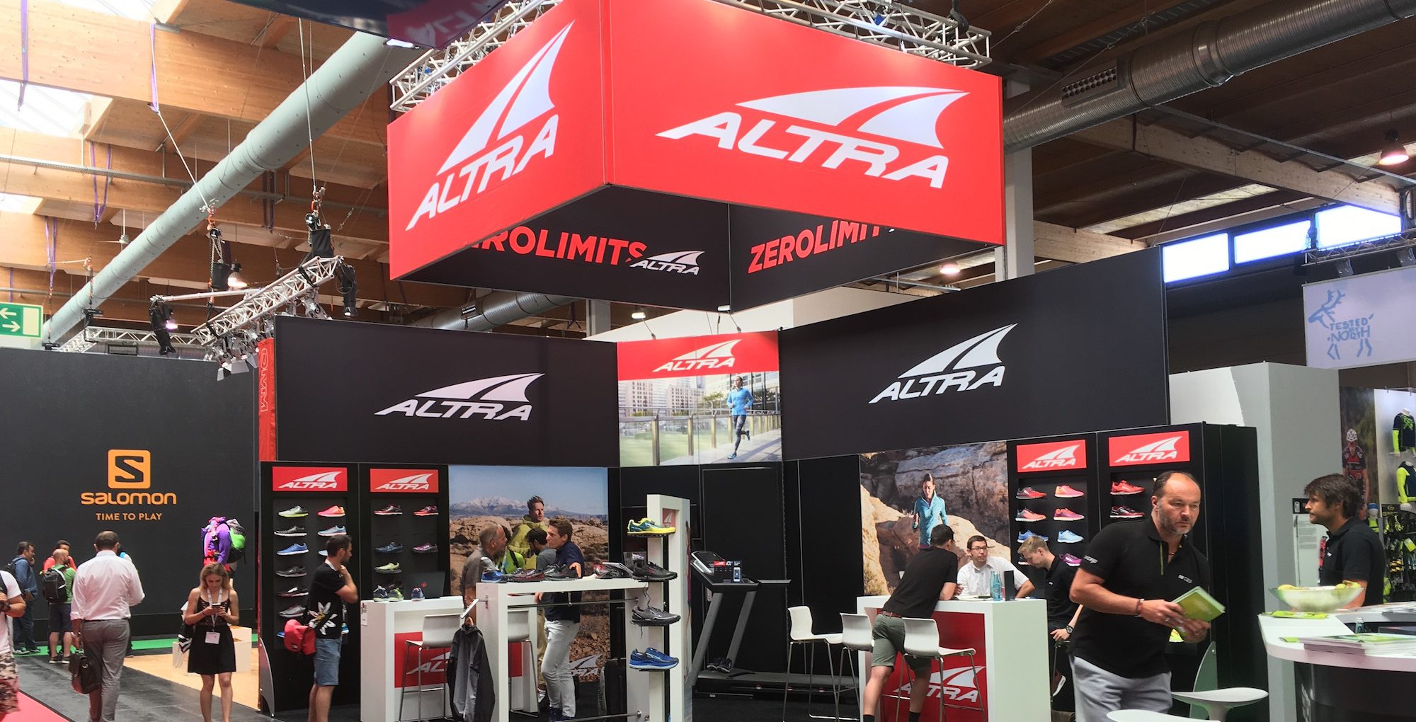 Altra Booth at OutDoor Show 2017