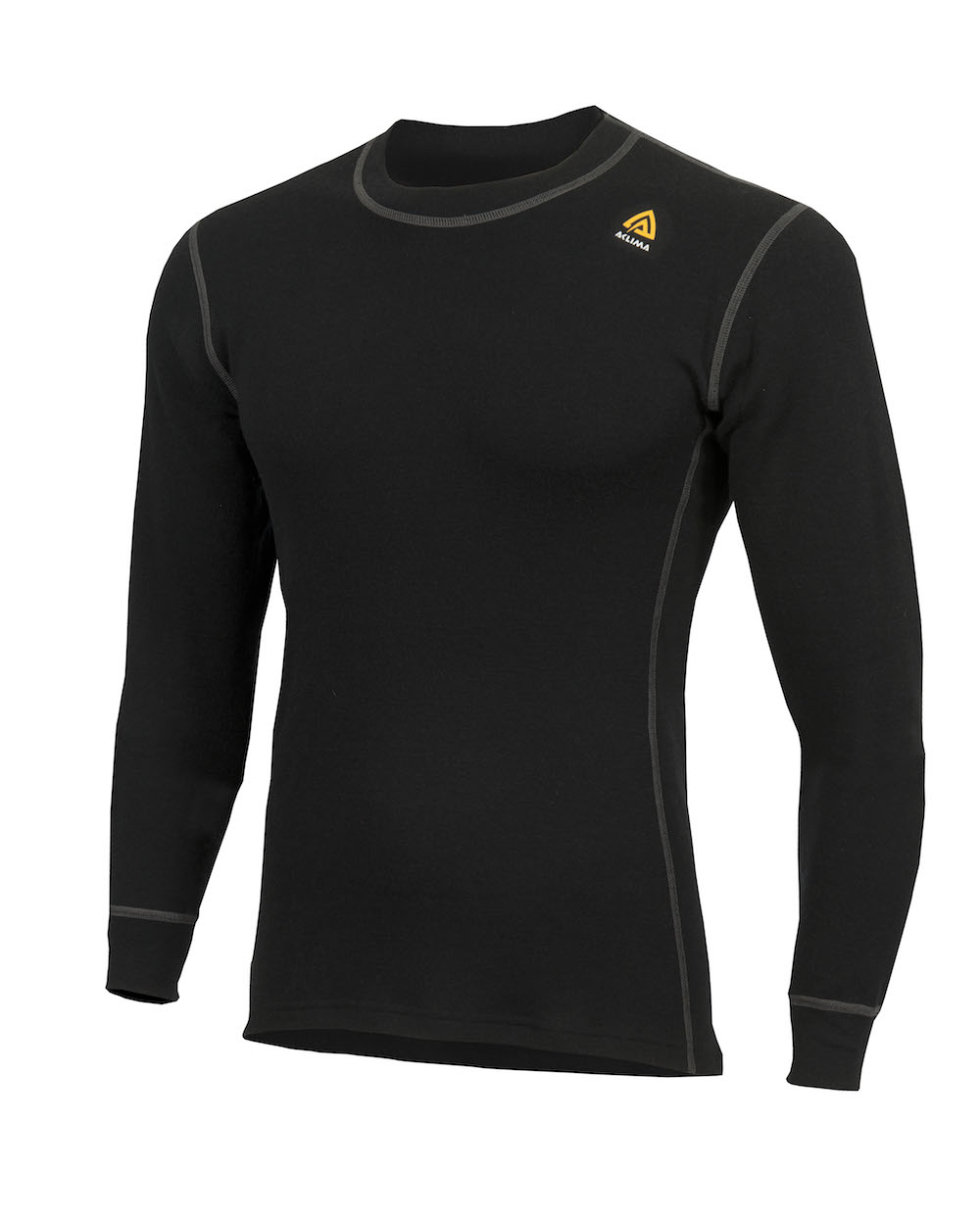 Aclima Warm Wool Crew Neck Jet Black
