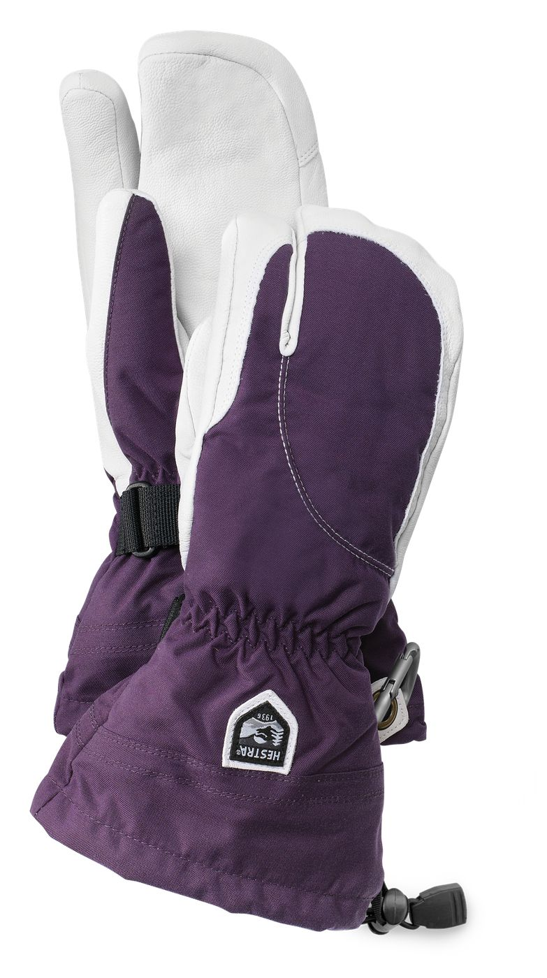 Hestra Army Leather Heli Ski Female 3-finger Plum