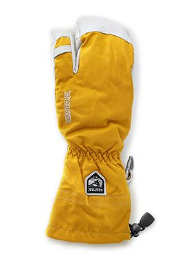 Hestra Army Leather Heli Ski 3-finger Mustard
