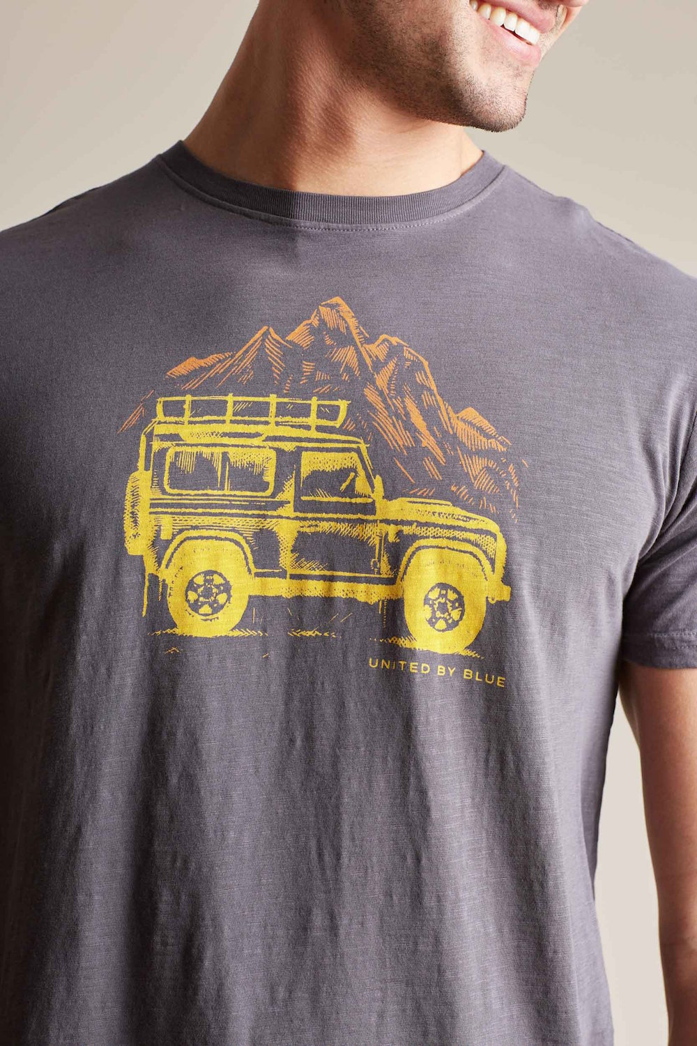 United By Blue Adventure Mobile T-shirt Charcoal