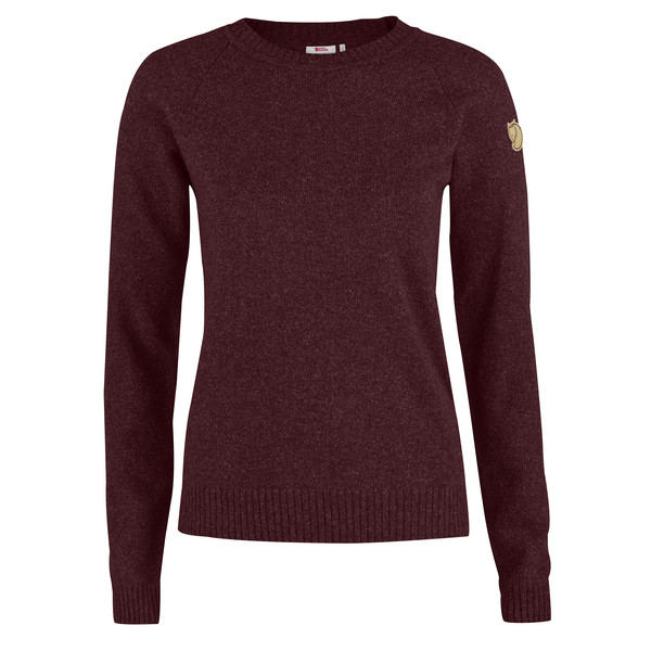 Fjällräven Övik Re-Wool Sweater W Dark Garnet