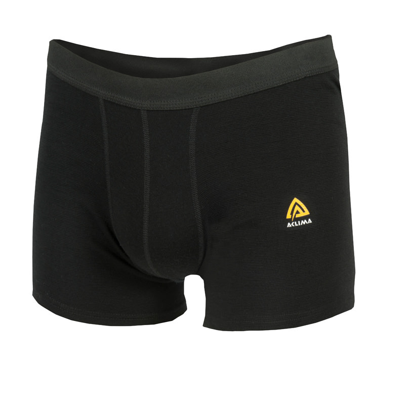 Aclima Warm Wool Boxer Shorts Jet Black